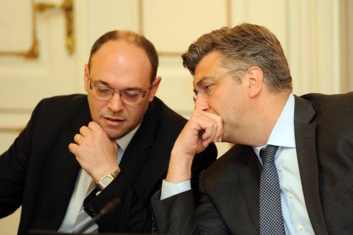Davor Ivo Stier i Andrej Plenković / Foto: D. KOVAČEVIĆ
