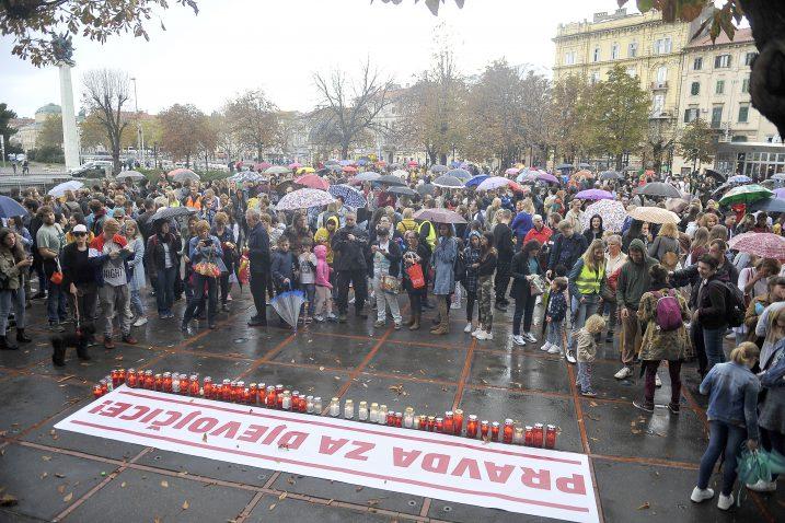 S riječkog prosvjeda Pravda za djevojčice / Foto Roni Brmalj