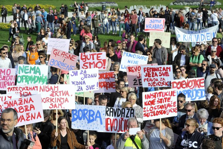 S prosvjeda 'Pravda za djevojčice' u Zagrebu / Foto Davor Kovačević
