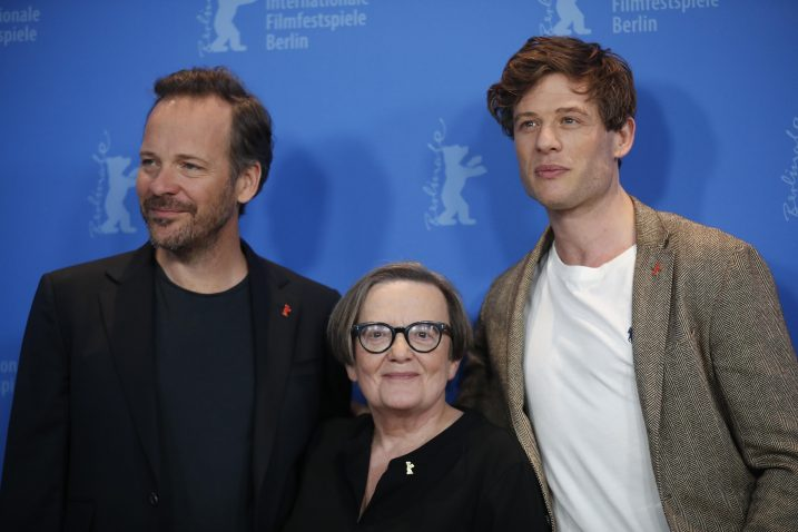 Redateljica Agnieszka Holland i glumci James Norton i Peter Sarsgaard promoviraju film 'Mr. Jones' / Reuters