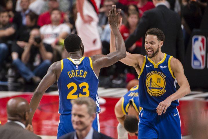 Klay Thompson i Draymond Green (Golden State)/Foto REUTERS