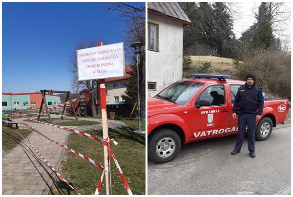 Zatvorena igrališta na području Ravne Gore, Tomislav Vukonić iz DVD-a Lokve / Foto: M. KRMPOTIĆ