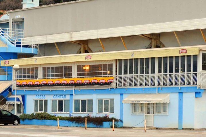 Ovako je nekada izgledao restoran i VIP prostor iznad press centra na Kantridi/Foto Arhiva NL