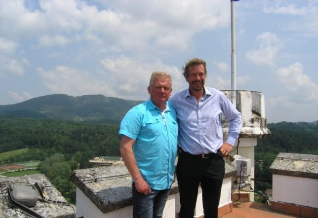 Ivan Domislović i grof Nikolaus Peter Draskovich (desno) koji se uime svoje obitelji od početka 90-ih bori za nekretnine diljem zemlje