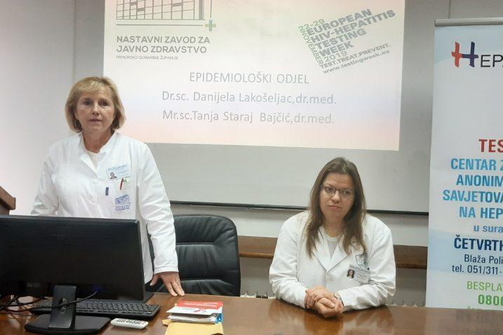 Danijela Lakošeljac i Tanja Staraj Bajčić pozvale na testiranje