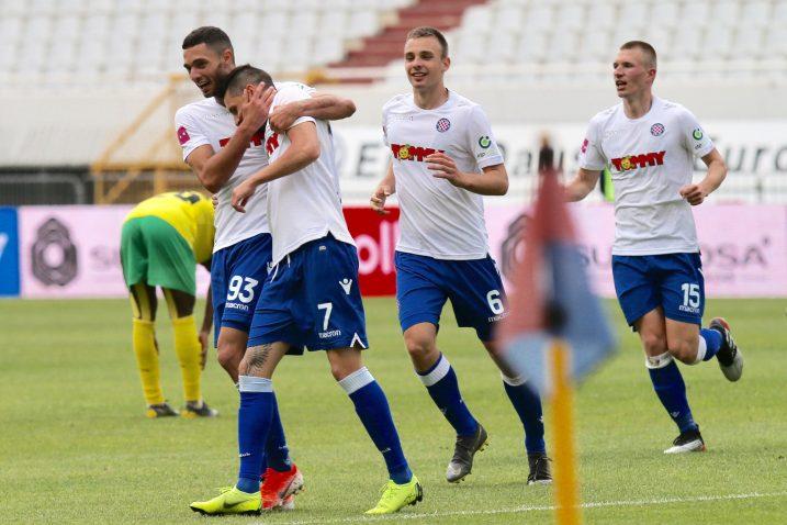 Nogometaši Hajduka su ispunili svoj cilj ove sezone/Foto PIXSELL