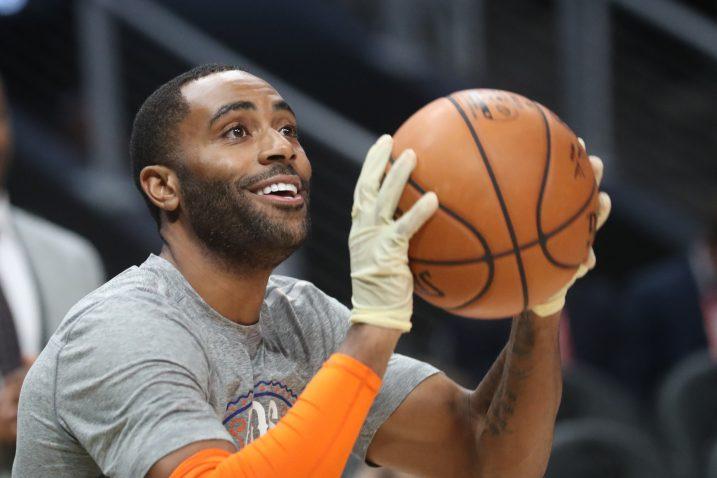 Wayne Ellington, branič New York Knicksa, zagrijavao se u rukavicama.../Foto REUTERS