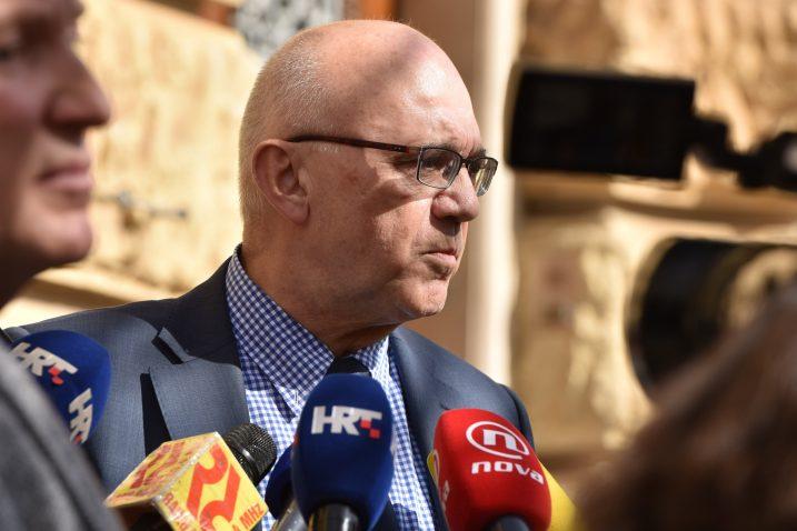 Veljko Miljević ponovio je da je kako je riječ o nepravomoćnoj presudi te je izrazio svoju sumnju da će ovakva presuda opstati / Foto Hrvoje Jelavic/PIXSELL