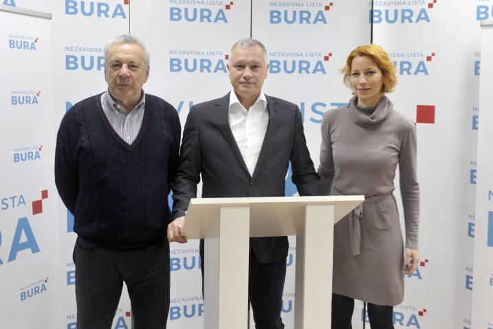 Boris Mijolović, Hrvoje Burić i Milena Žitinić / Foto: V. KARUZA