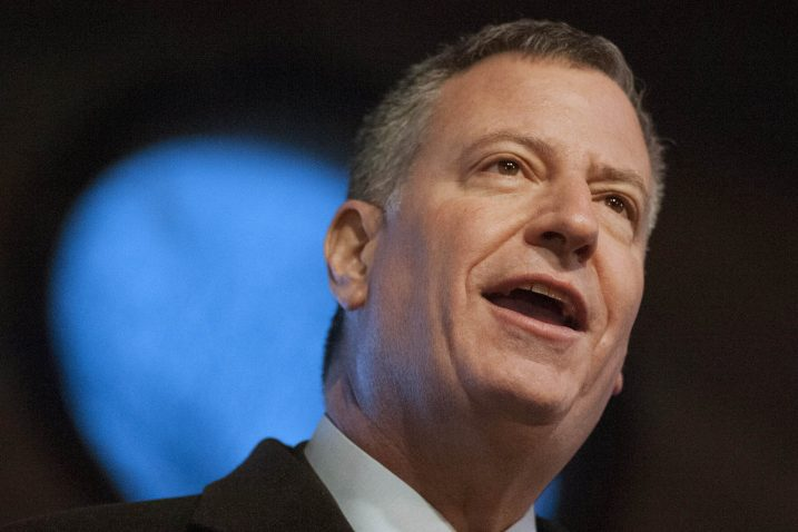 Bill de Blasio / REUTERS