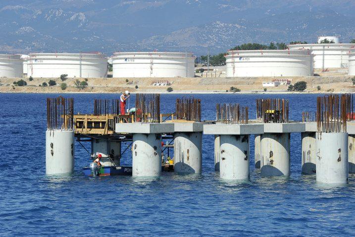 Događaj na snimci je snimljen u neposrednoj blizini gradilišta budućeg LNG terminala / Foto S. DRECHSLER