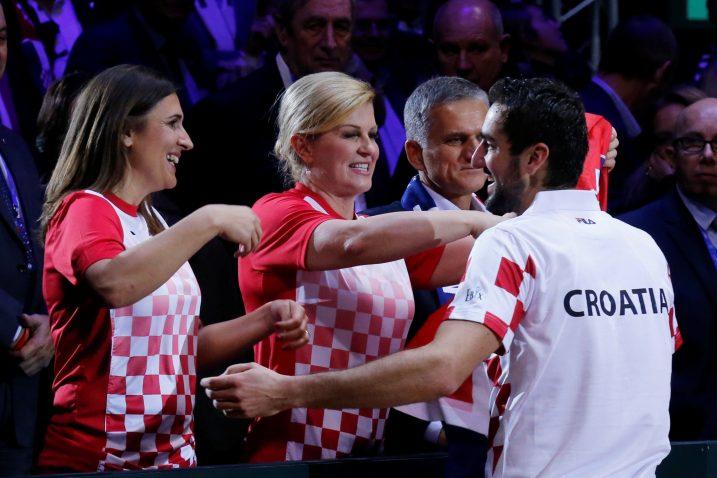 Kolinda Grabar-Kitarović često je odlazila na sportske događaje / Reuters