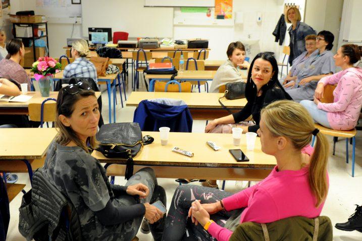 Učitelji i nastavnici proveli su dan u razredima, ali odvojeno od učenika / Snimio Marko GRACIN