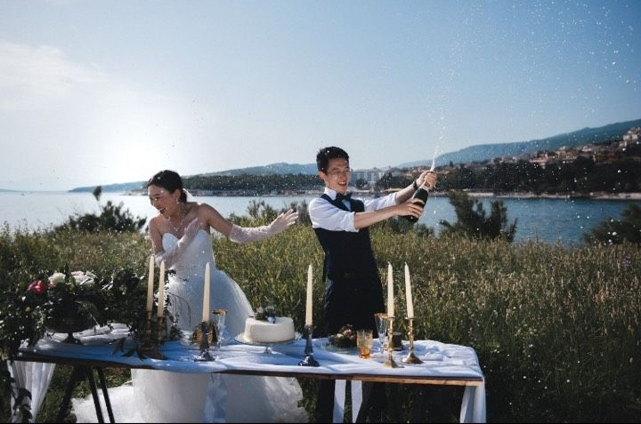 Za mladence je sve organizirala riječka agencija Wedding2book