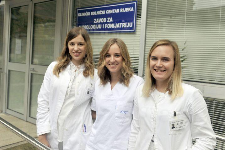 Patricia Orlić, Lara Pilepić i Mia Mešter diplomirale su ovog ljeta i izabrale upravo kliničku logopediju / Foto Vedran KARUZA