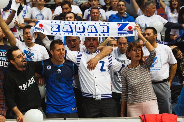 Zadrani su slavil pred 9000 svojih navijača/Foto PIXSELL
