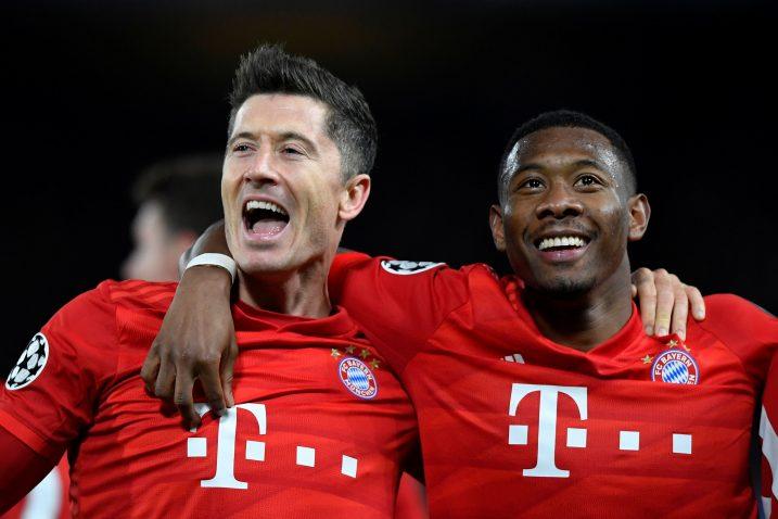 Robert Lewandowski i David Alaba (Bayern)/Foto REUTERS