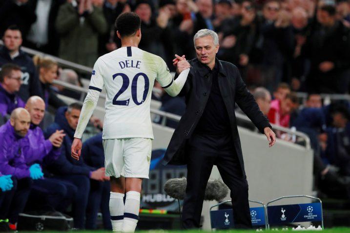 Dele Alli i Jose Mourinho/Foto REUTERS