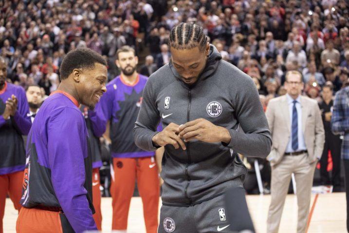 Uoči utakmice Kawhi Leonard je dobio i NBA prsten/Foto USA TODAY Sports