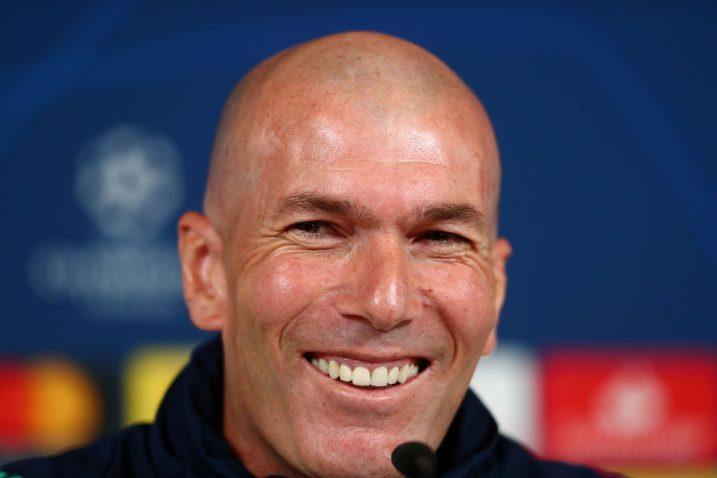 Zinedine Zidane, trener Real Madrida/Foto REUTERS