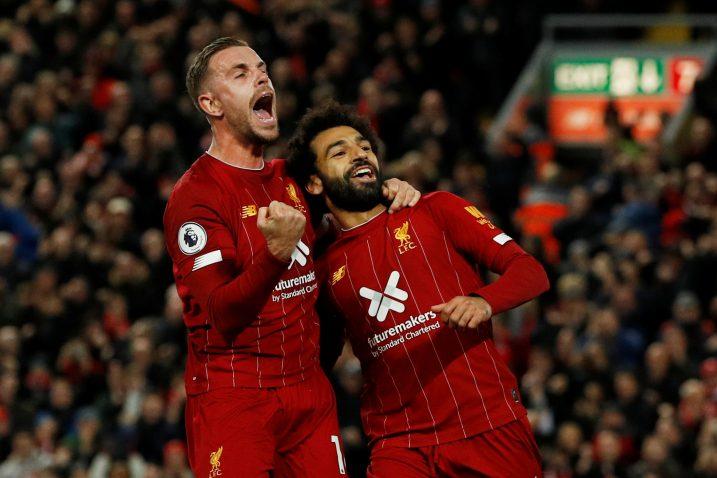 Jordan Henderson i Mohamed Salah (Liverpool)/Foto REUTERS