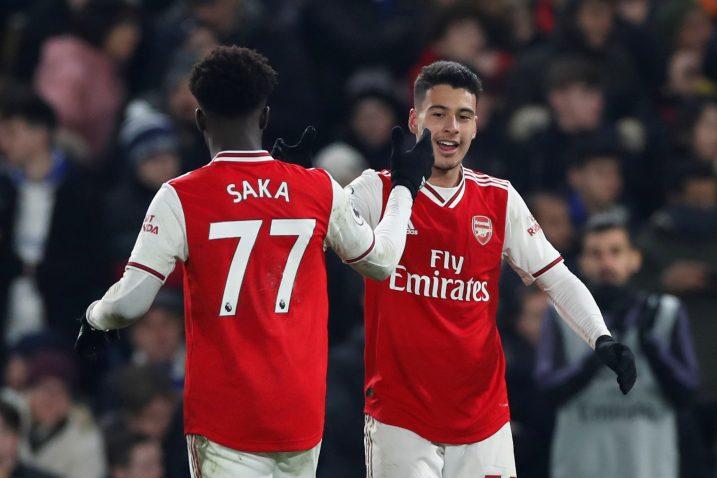 Gabriel Martinelli i Bukayo Saka (Arsenal)/Foto REUTERS