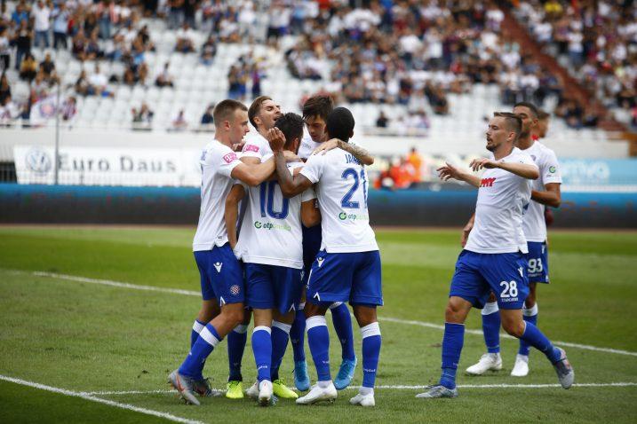 Igrači Hajduka proslavili su još jednu pobjedu /Foto PIXSELL
