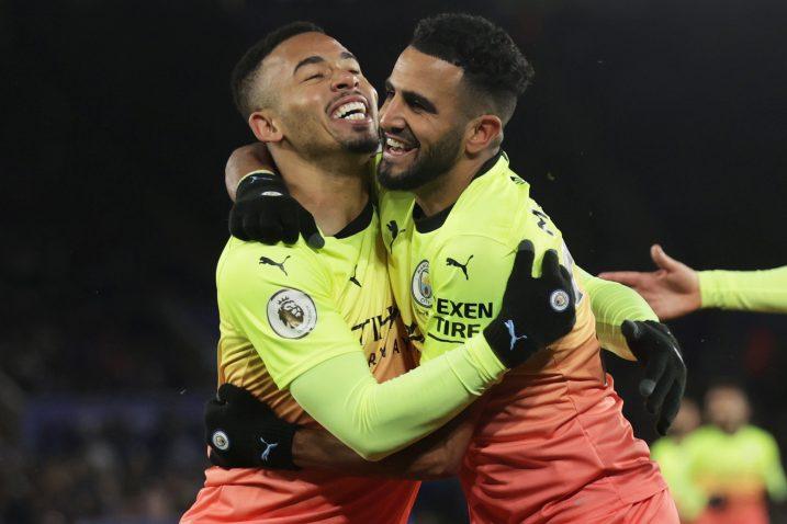 Gabriel Jesus i Riyad Mahrez (Manchester City)/Foto REUTERS