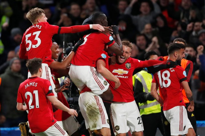 Slavlje igrača Manchester Uniteda na Stamford Bridgeu/Foto REUTERS