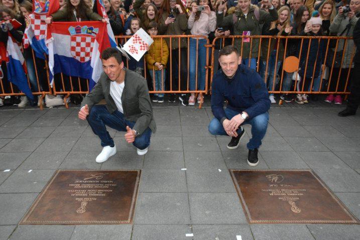Mario Mandžukić i Ivica Olić/Foto PIXSELL