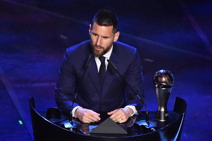 Leo Messi na dodjeli u Milanu/Foto REUTERS