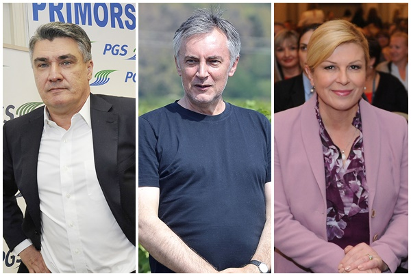 Zoran Milanović, Miroslav Škoro, Kolinda Grabar-Kitarović / Foto: Novi list