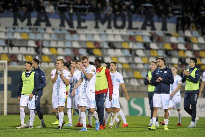 Nogometaši Rijeke ponovo su pali u nastavku utakmice/Foto R. BRMALJ
