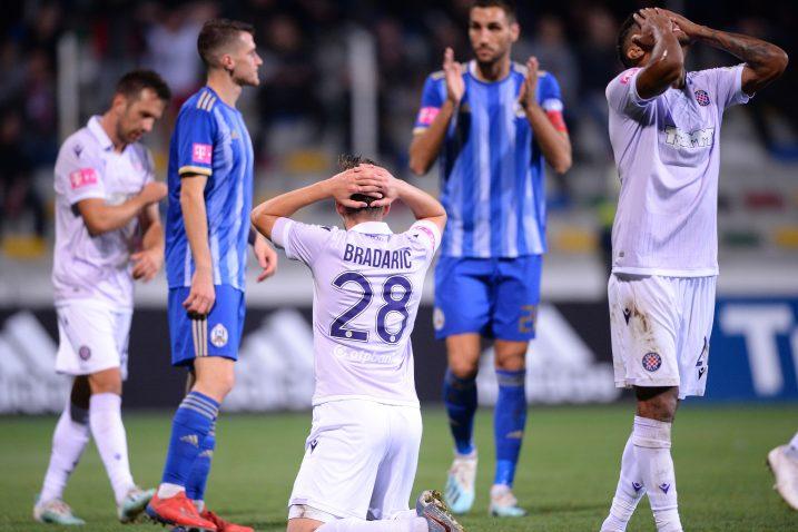 Filip Bradarić nije krio razočarenje krajnjim ishodom/Foto PIXSELL