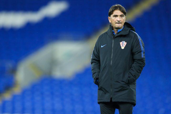 Zlatko Dalić na posljednjem treningu u Cardiffu/Foto PIXSELL