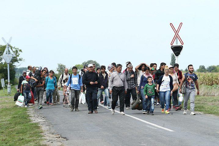 Photo/Wikimmedia-Migrants in Hungary 2015.