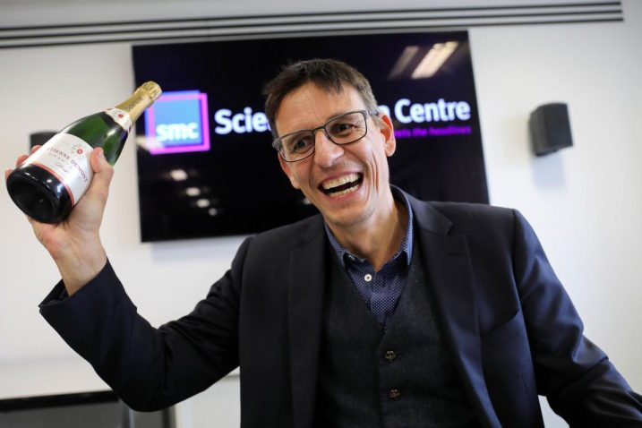 Didier Queloz prije nekoliko dana proslavio je osvajanje Nobelove nagrade/Foto REUTERS