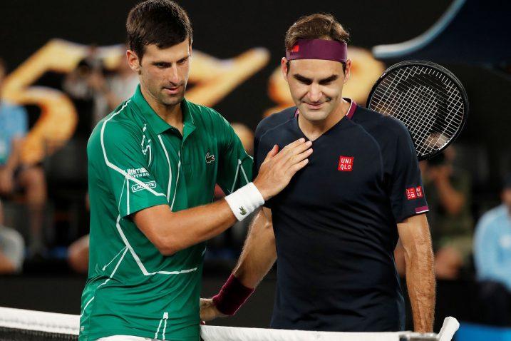 Novak Đoković i Roger Federer/Foto REUTERS