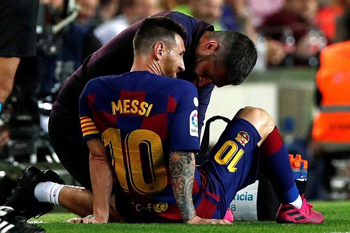 Leo Messi stradao je tijekom ogleda s Villarealom/Foto REUTERS