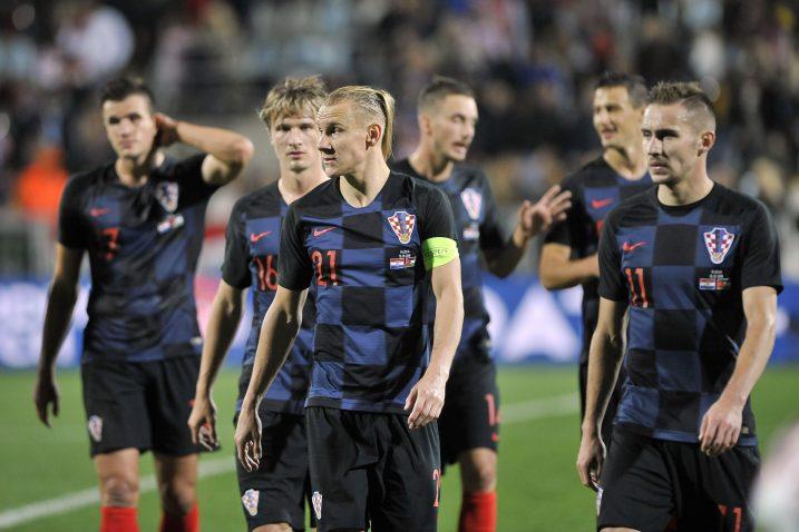 Domagoj Vida i suigrači ostvarili su prvu pobjedu u službenoj prijateljskoj utakmici nakon ruske bajke/V. KARUZA