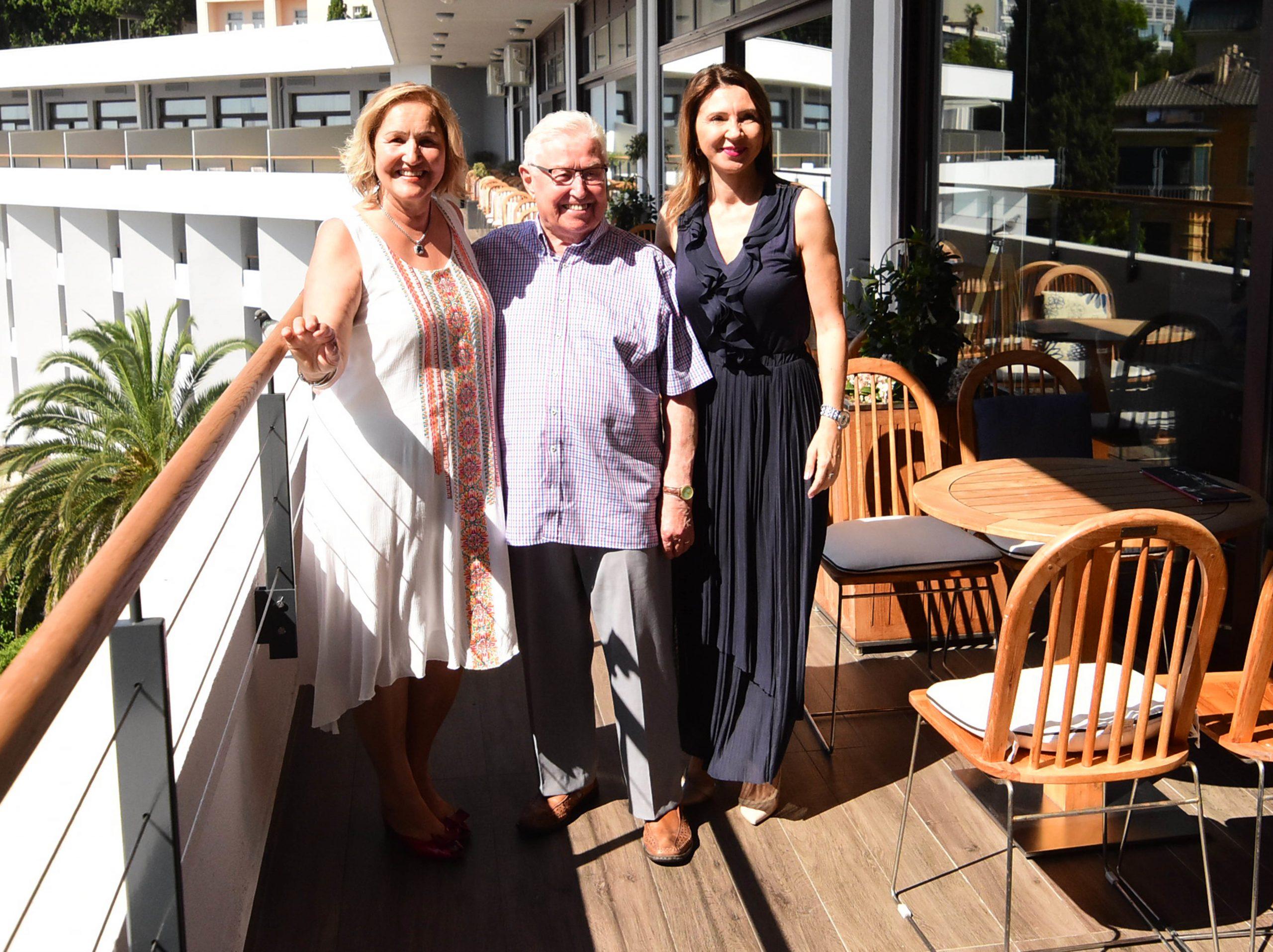 Katarina Hauptfeld, Lennart Karlsson i Vera Aničić u hotelu Admiral / Snimio Marin ANIČIĆ