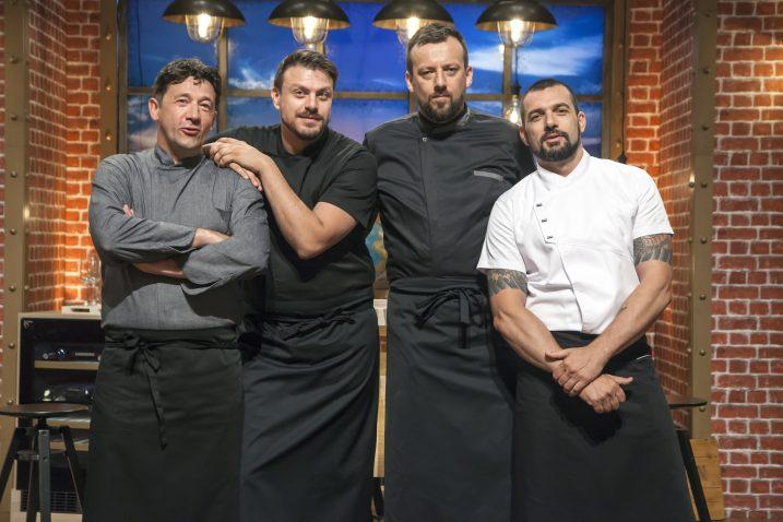 Kulinarski mušketiri: Christian Misirača, Mate Janković, Ivan Erak i David Skoko / Foto B. PREZELJ/HRT
