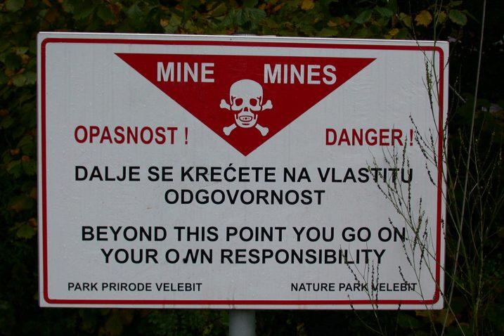 U neposrednoj blizini devet ličkih gradova i općina pod minama se još uvijek nalazi 118,542 km2 minsko-sumnjivih povšina