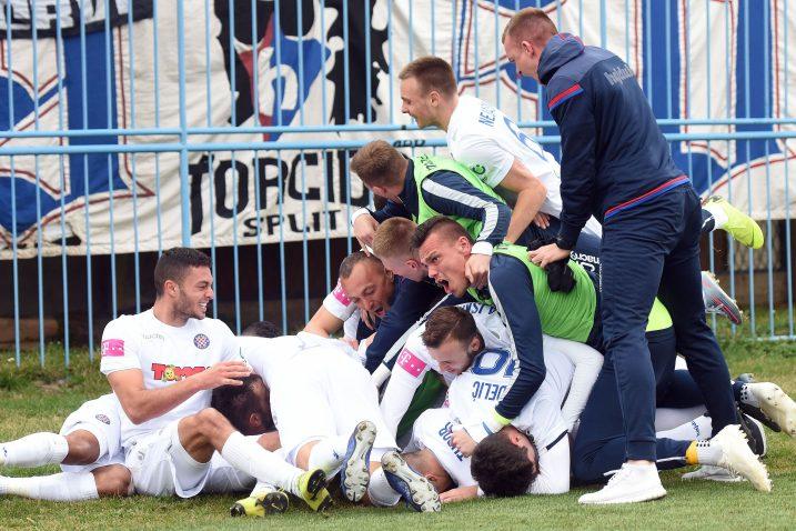 Igrači Hajduka došli su do važnih bodova u finišu utakmice/Foto PIXSELL