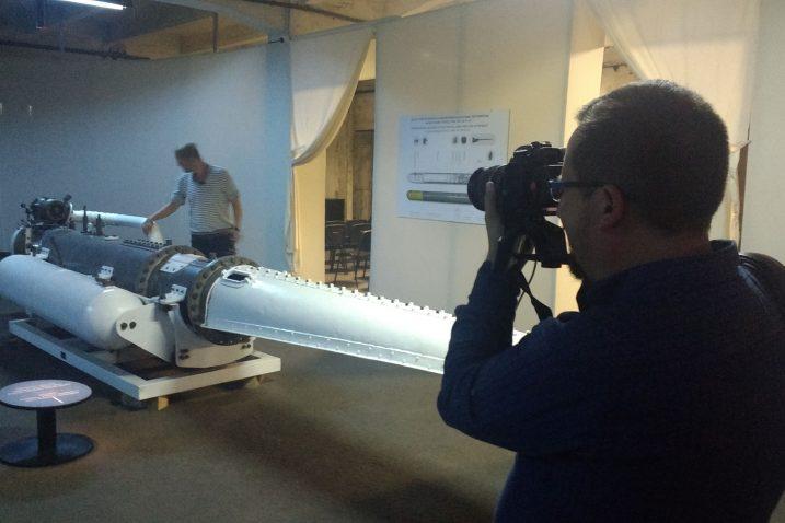 Mađarski televizijski novinari proteklog su vikenda radili prilog o torpedu / Snimio Sergej DRECHSLER