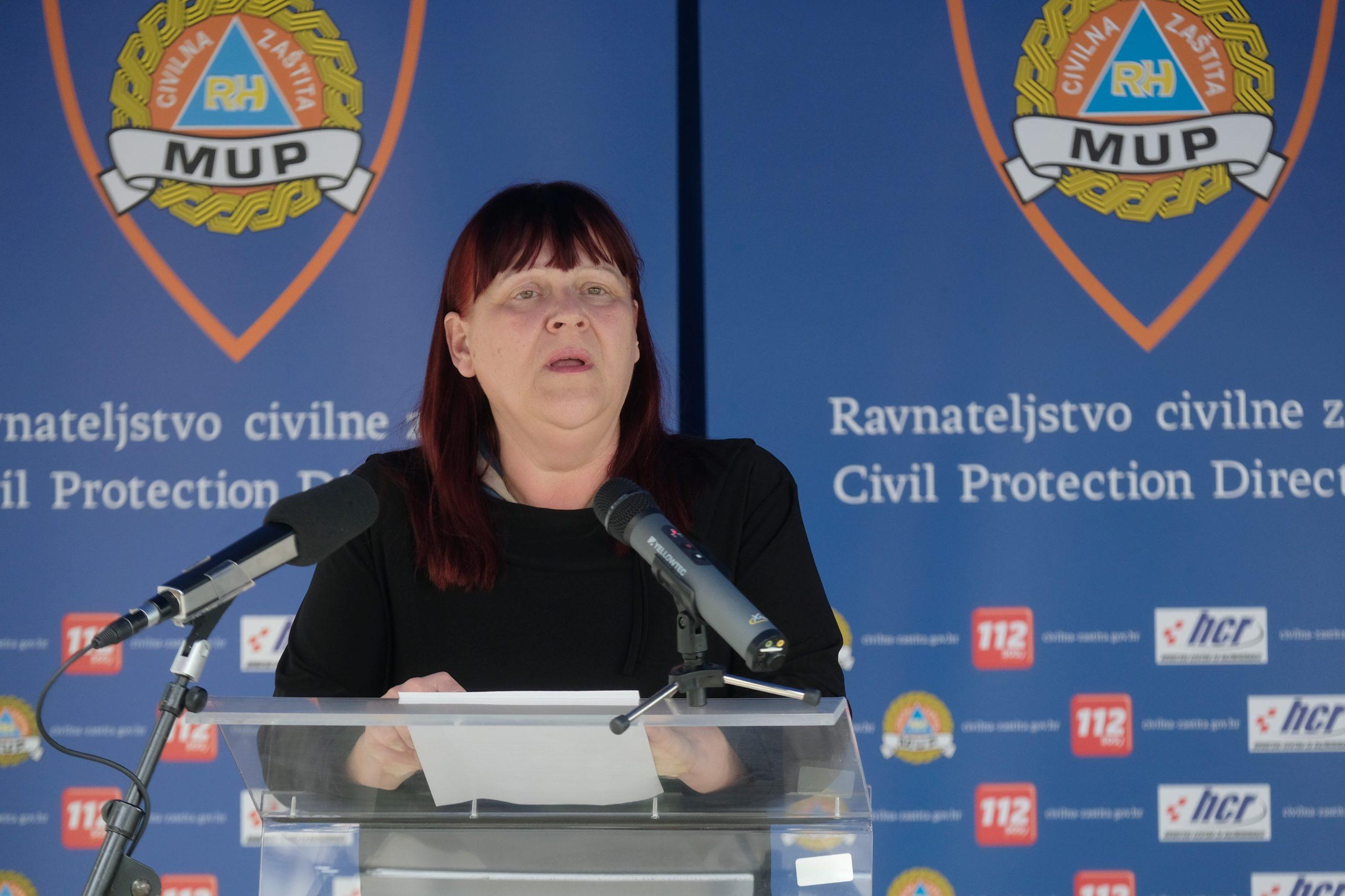 HDZ očito računa na ulogu koju je Maja Grba Bujević imala u borbi protiv korone / Photo: Edvard Susak/HINA/POOL/PIXSELL