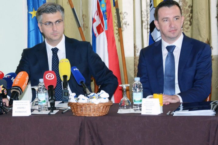 HDZ u Vukovaru dobio težak udarac / Andrej PLenković i Nikola Mažar / Foto: Nikola Cutuk/PIXSELL