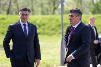 Andrej Plenković i Zoran Milanović / Foto Slavko Midžor PIXSELL