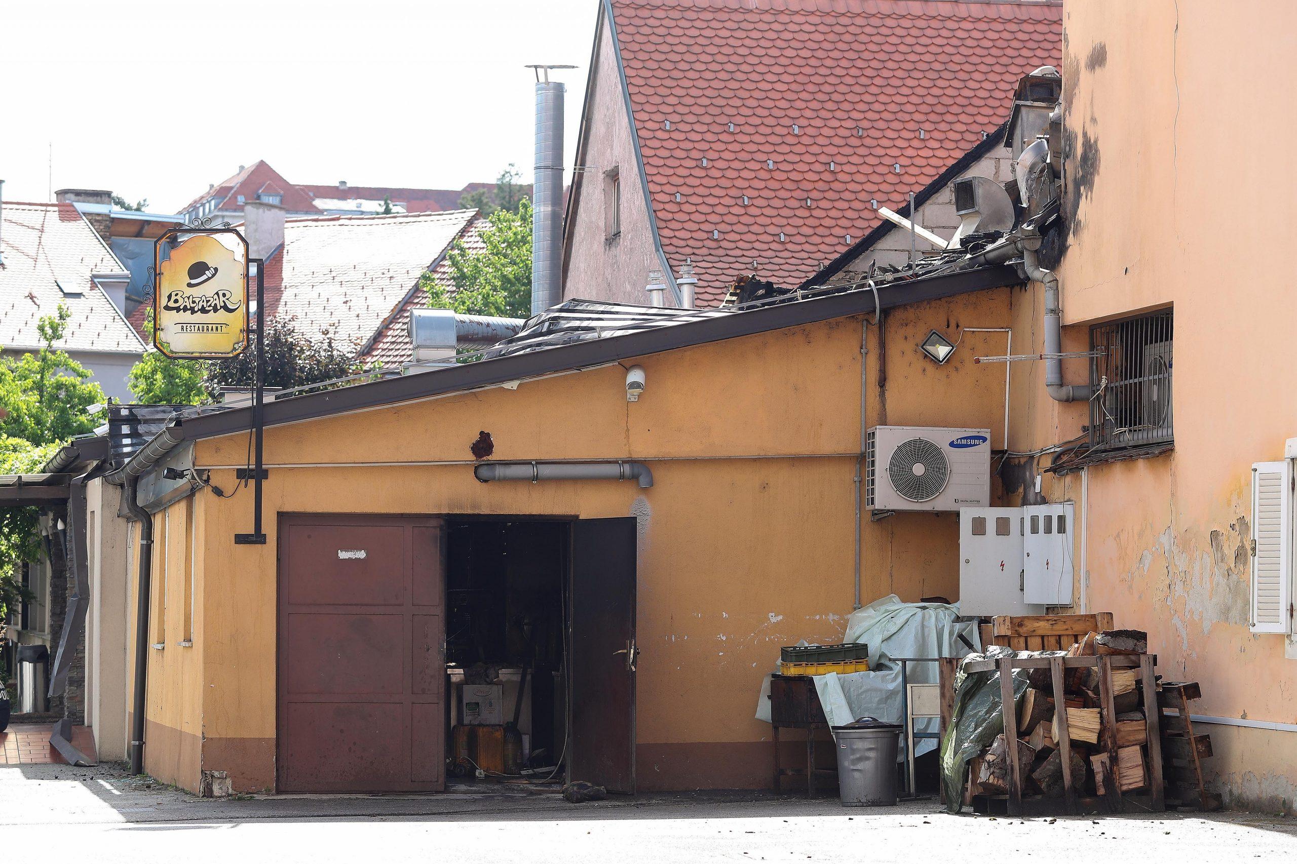 Požar u restoranu Baltazar / Foto: Luka Stanzl/PIXSELL