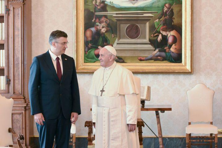 Andrej Plenković s papom Franjom